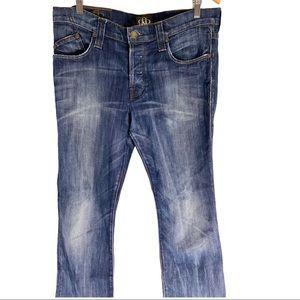 Rock & Republic button fly boot cut men's jeans 36
